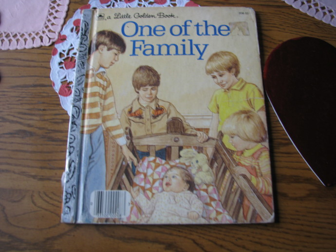 Vintage Children's Book- A Little Golden Book- One of the Family