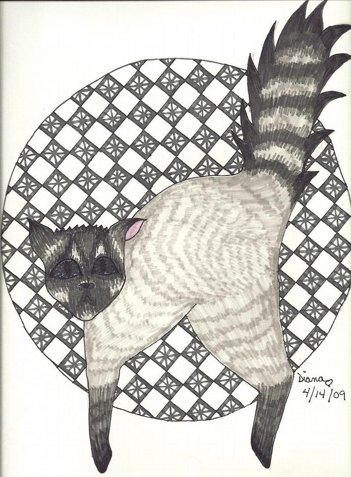Cats (Stripe) - matted print