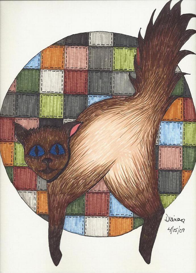 Cats ( Vanessa ) - matted prints