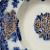 Flow Blue Salad Plate 1894 Victorian New Wharf Pottery Antique Porcelain