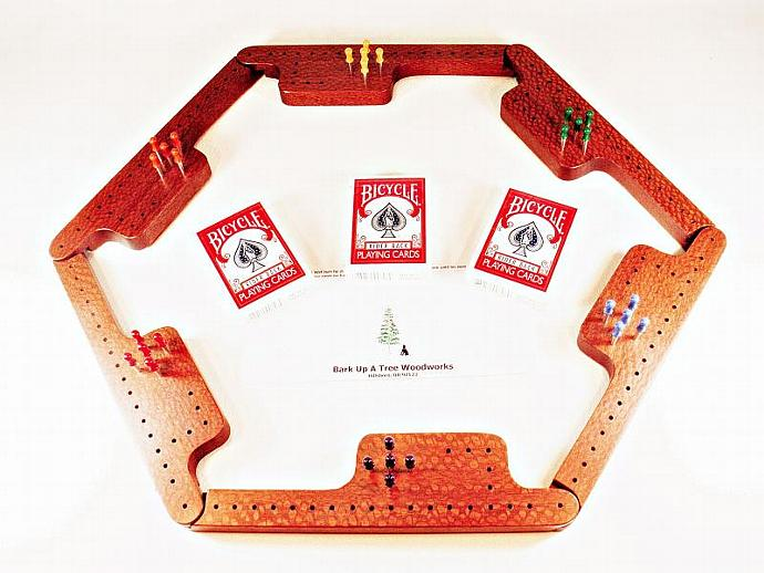 Pegs and Jokers Game Set - Leopardwood