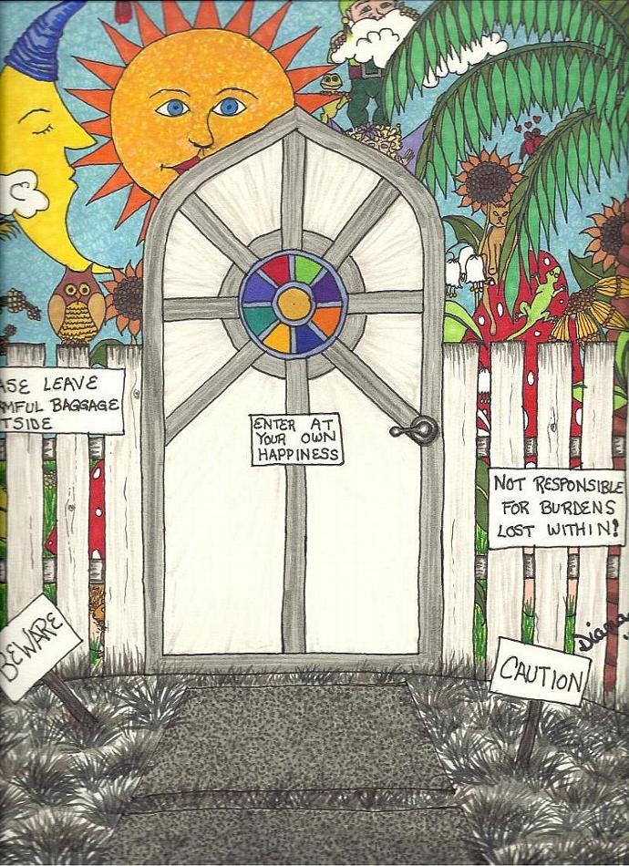 Wonderland The Door - print
