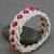ecru rope bracelet with red beads turks head knot bracelet beach bracelet beaded
