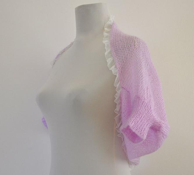 Purple Chic Delicate Mohair Shrug / Bolero