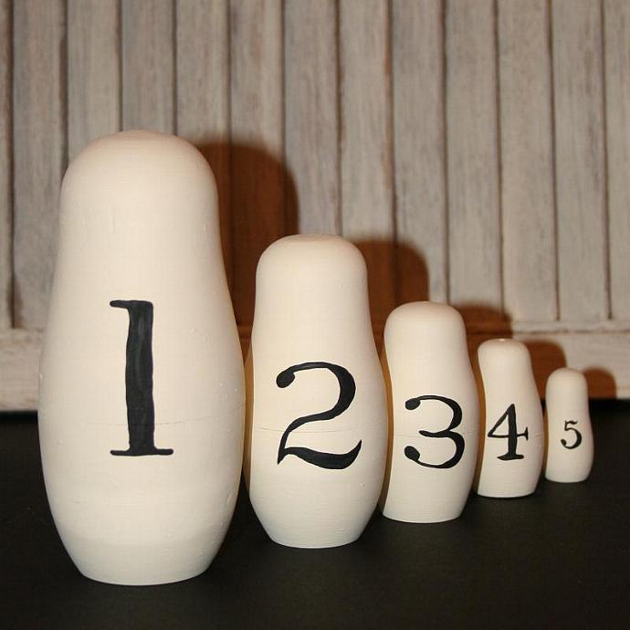 Numbered Nesting Doll Set