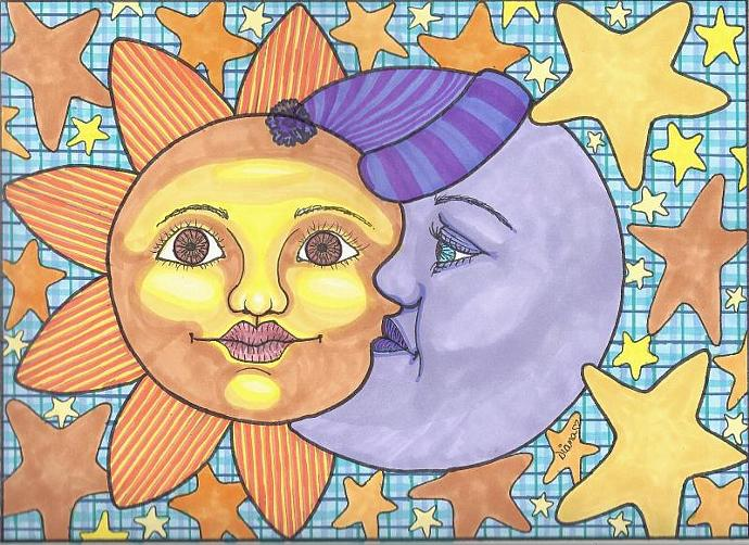 Sun And Moon 1 - matted print
