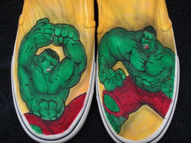 8d9f9af6e30d The Incredible Hulk Custom Designed Shoes by inkwear99 on Zibbet