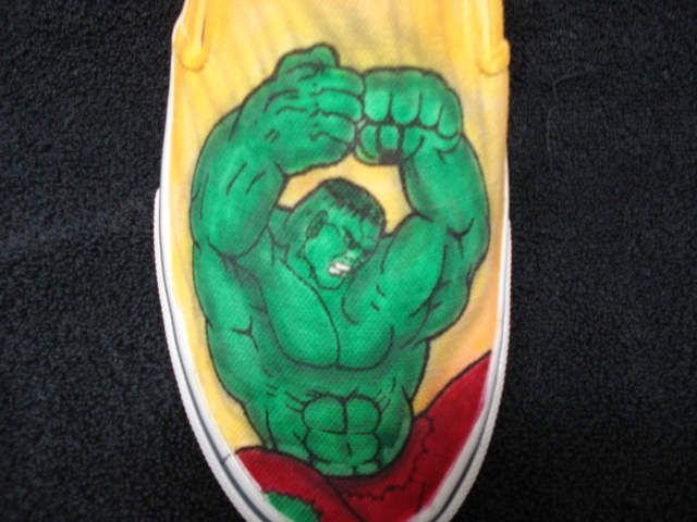 c0d8303527c5 The Incredible Hulk Custom Designed Shoes ...