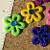 Sparkling Flower Flat Back buttons