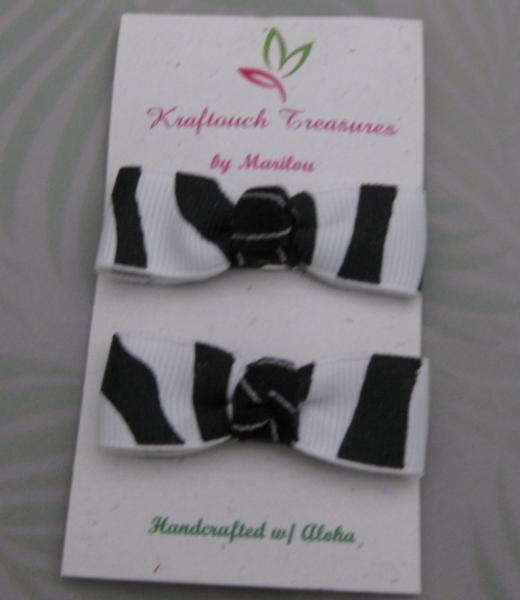 Zebra Bow Clip