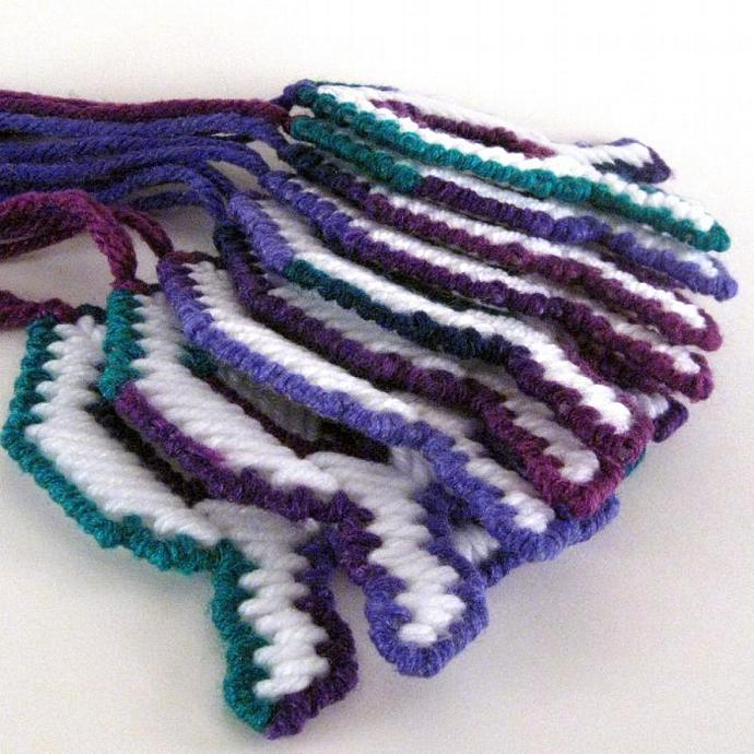 A Colorful Fish Decoration in Green Purple Blue