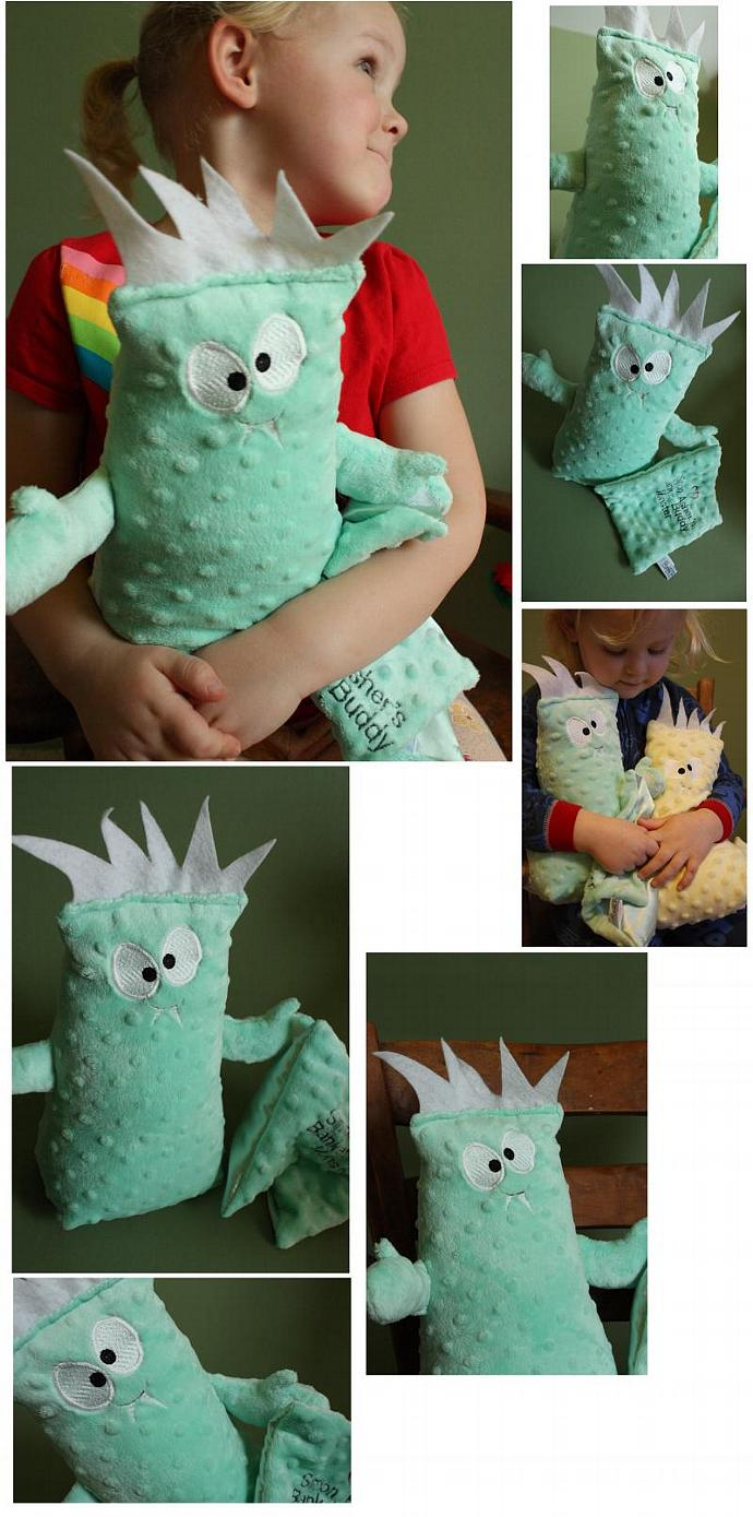 Personalized My Blanket Monster  Buddy Stuffed Toy