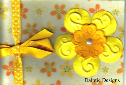 Sweet Yellow Flower Greeting Card