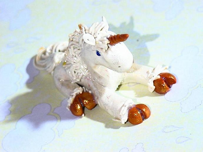 Unicorn Mini- 'Just a moment until nap time' -ooak figuer