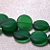 Baby Bottles-  recycled green sea glass beads