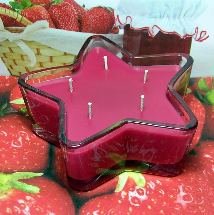 Strawberry Jam PURE SOY Star Container Candle 11 oz.