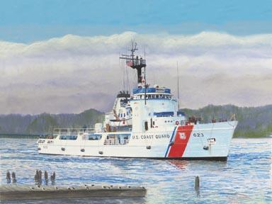 """El Tiburon Blanco"" Giclee Canvas Print by Carol Thompson"