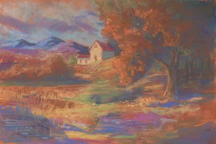 """The Farmhouse On The Hill"" Giclee Canvas Print by Carol Thompson"