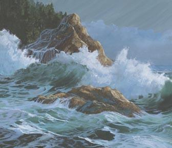 """Rocky Shore"" Giclee Canvas Print by Carol Thompson"