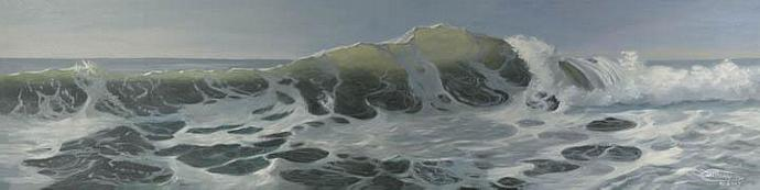 """Sneaker Wave"" Giclee Canvas Print by Carol Thompson"