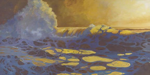 """""""The Sea Is Gold"""" Giclee Canvas Print by Carol Thompson"""