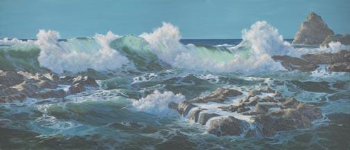 """Turbulent Surf"" Giclee Canvas Print by Carol Thompson"