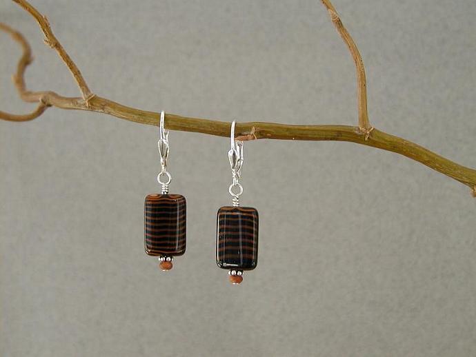 Handmade Brown/Black Earrings