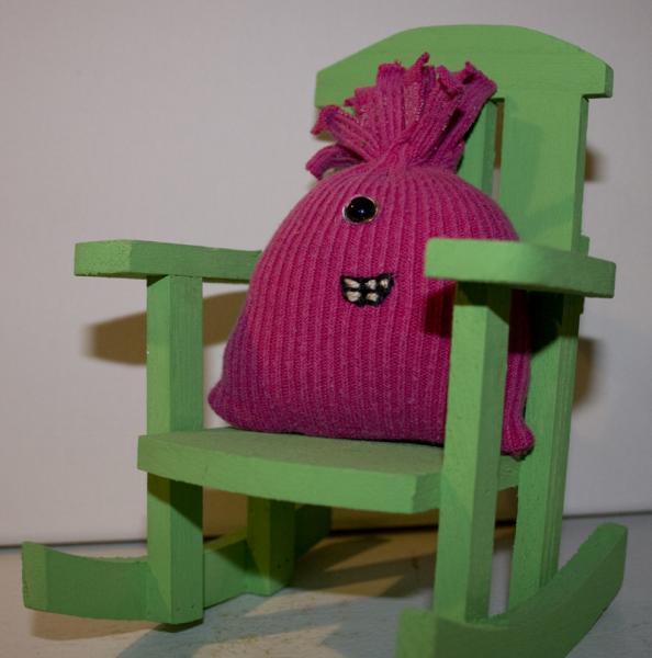 Little Pink Sock Monster