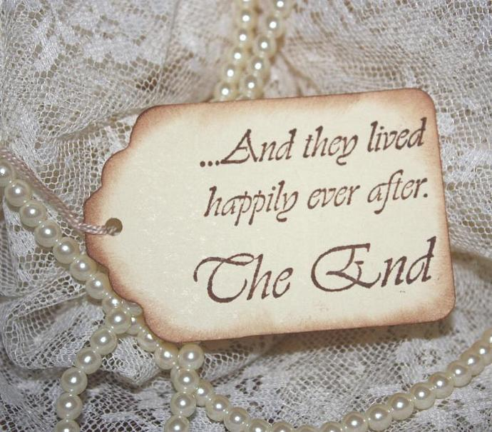 8 Happily Ever After Wedding Wish Tree Hang Tags