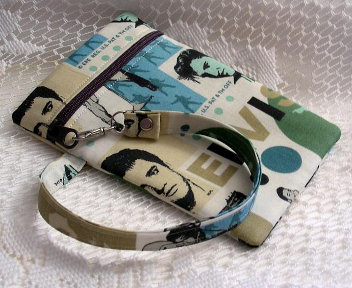 Wristlet Zipper Gadget Holder -Elvis 2