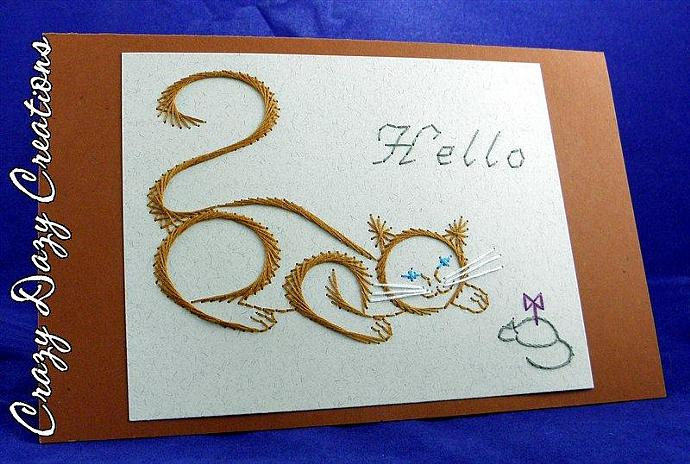 Hello Kitty and Mouse Greeting Card