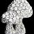 Vintage - 2 Rhinestone Mushrooms Brooch