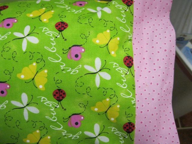 NEW Girl Bugs MINI Pillowcase kids/travel pillowcase