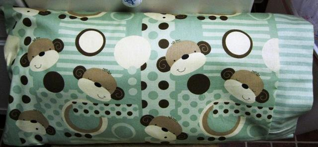 NEW Sage Monkey MINI Pillowcase kids/travel pillowcase