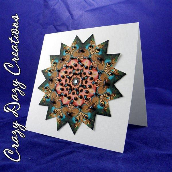 Hand-Beaded Starburst Card - #110