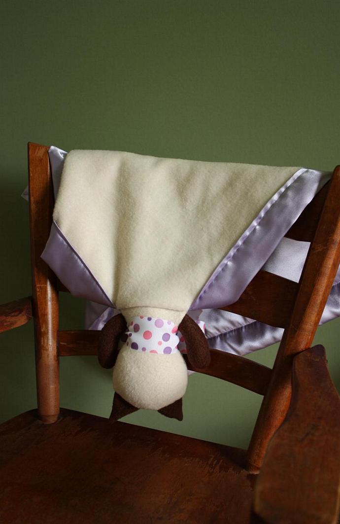 Siamese Cat Lovey Blanket, Satin, Baby Blanket, Stuffed Animal, Baby Toy -