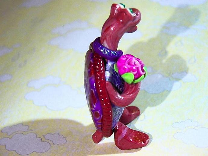 'Templeton Turtle'-a ooak miniature figure