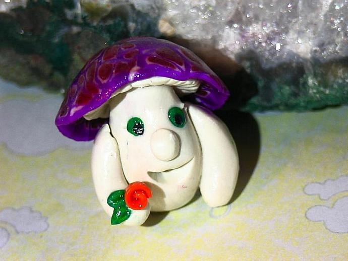 'Maxwell Mushroom'-a ooak miniature figure