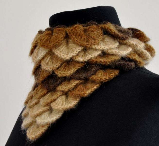 Dreams Come True Triangle Mohair Warm Cowl - Brown