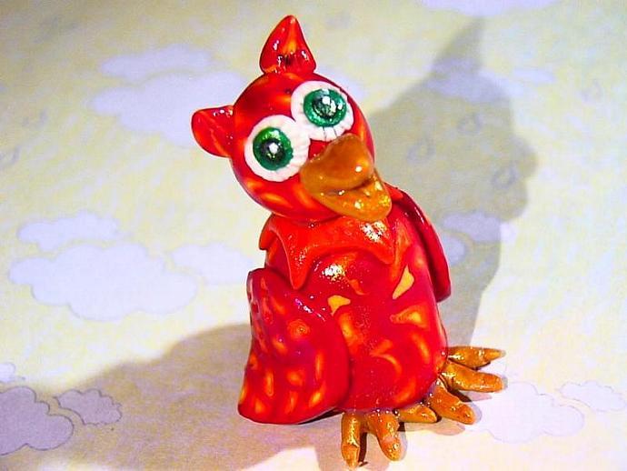 Olympia Owl--> an ooak miniature figure