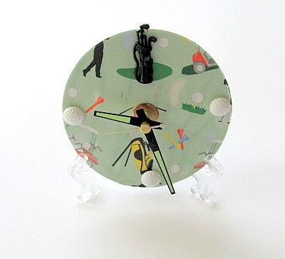 Golf Upcycled CD Clock