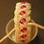 pink beaded turks head knot bracelet MEDIUM 353