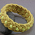 yellow beaded turks head knot bracelet MEDIUM 442