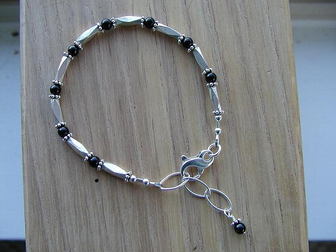 Handmade Silver/Onyx Bracelet