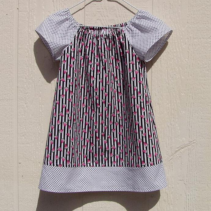 Watermelon Dreams Peasant Dress, size 4T