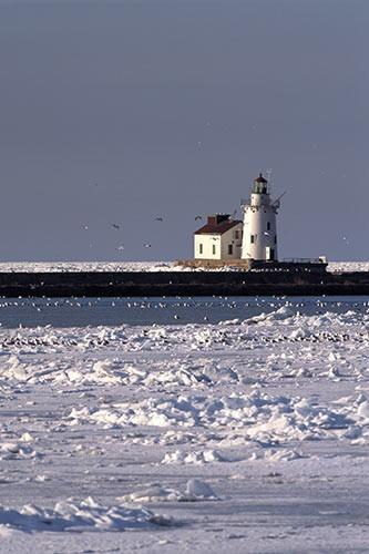 Winter at the Cleveland Lighthouse