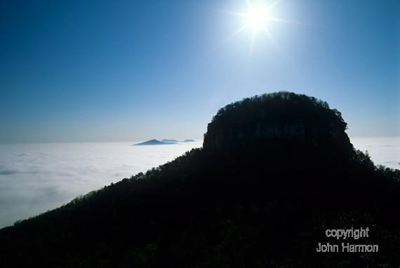 Pilot Mountain   Foothills of the Blue Ridge Mountains North Carolina Surry