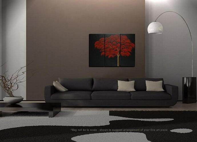 45x30 Black and Red Tree Painting Customized Art for your Home