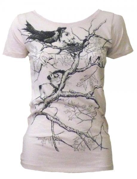 Women's Organic Birds in Danger Tee