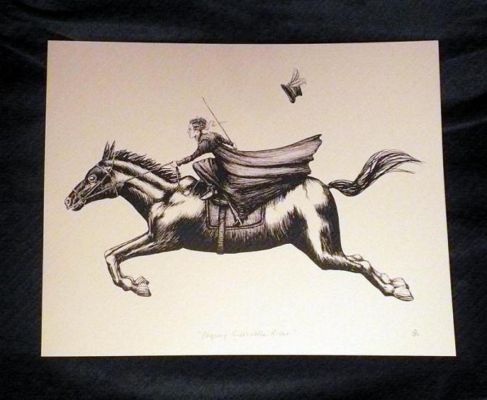 Regency Sidesaddle Rider Art Print, 11 x 14 Inches